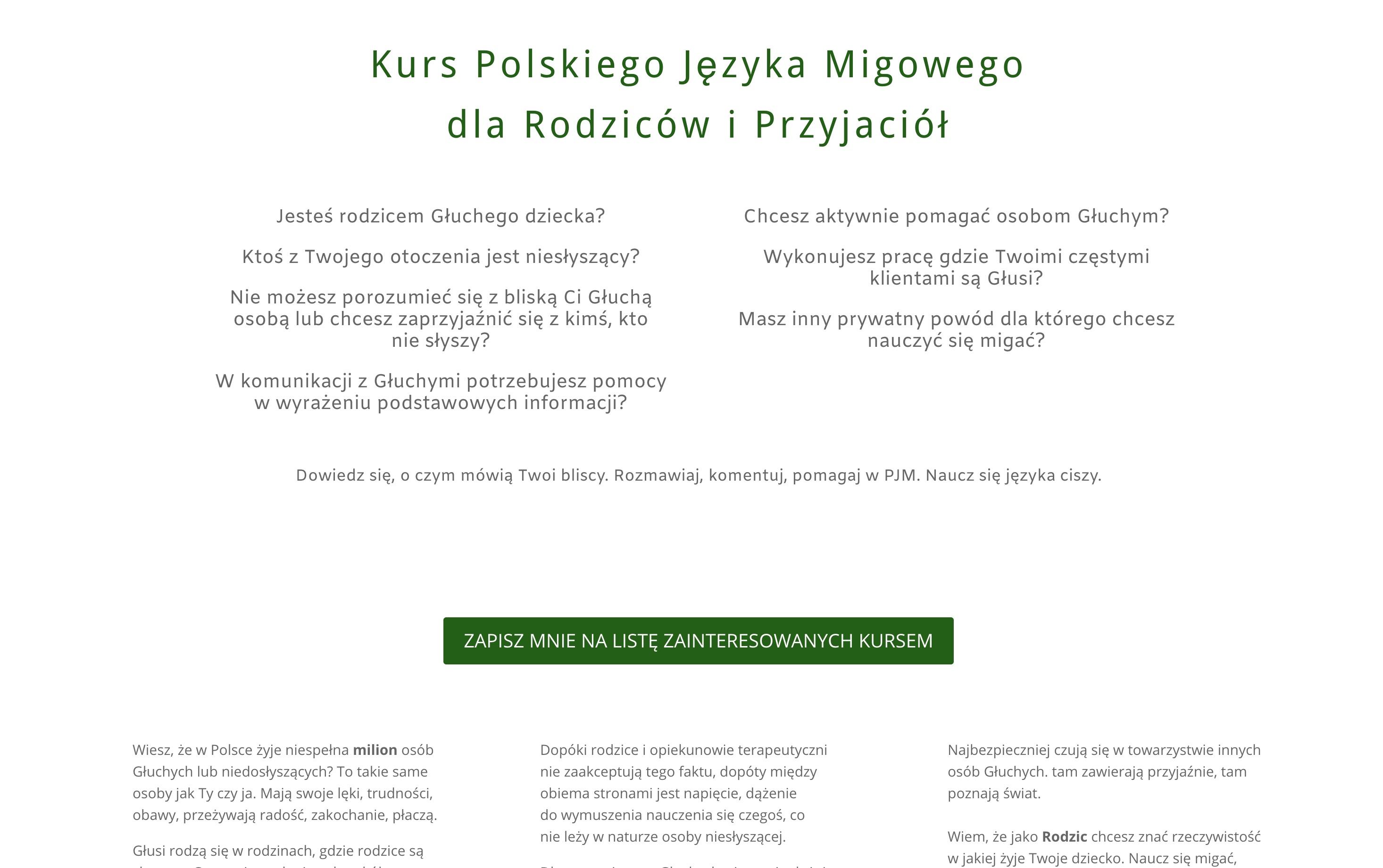 Zrzut ekranu ze strony www.joannamigiem.pl